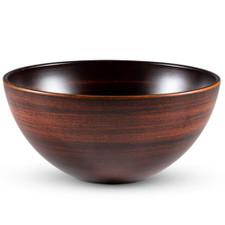 Retro Brown Plastic Round Bowl