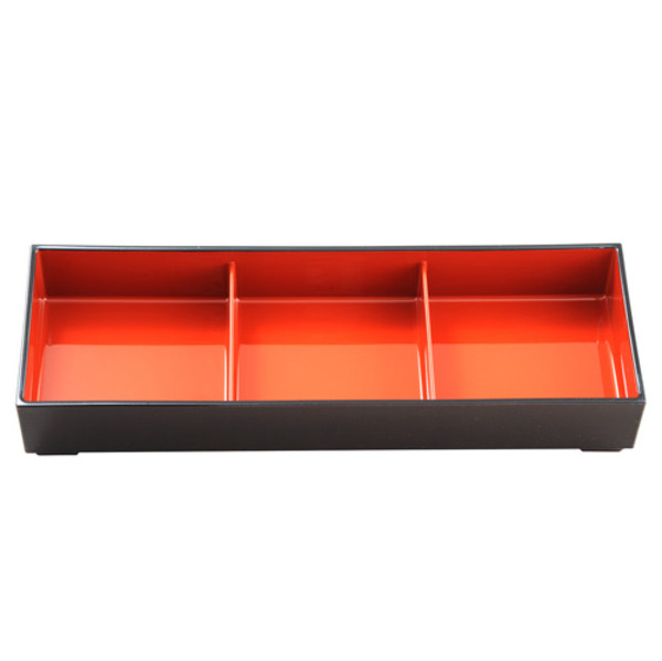Image of Brown and Red Nagate Bento Box