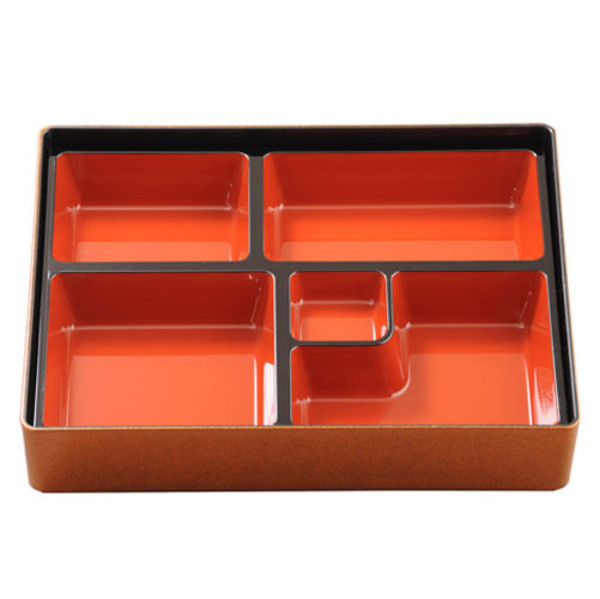 Image of Gold and Red Bento Box
