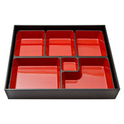 Black and Red Bento Box