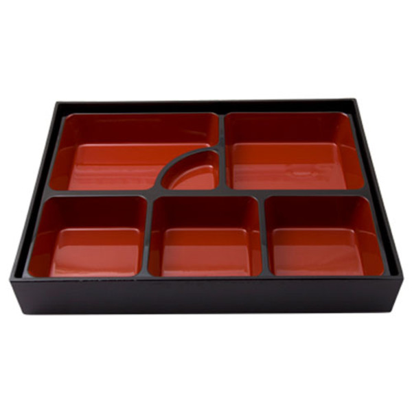 Image of Black and Red Bento Box