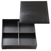 Black Bento Box with Cover and Divider