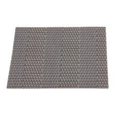 Resin Gray Striped Square Coaster