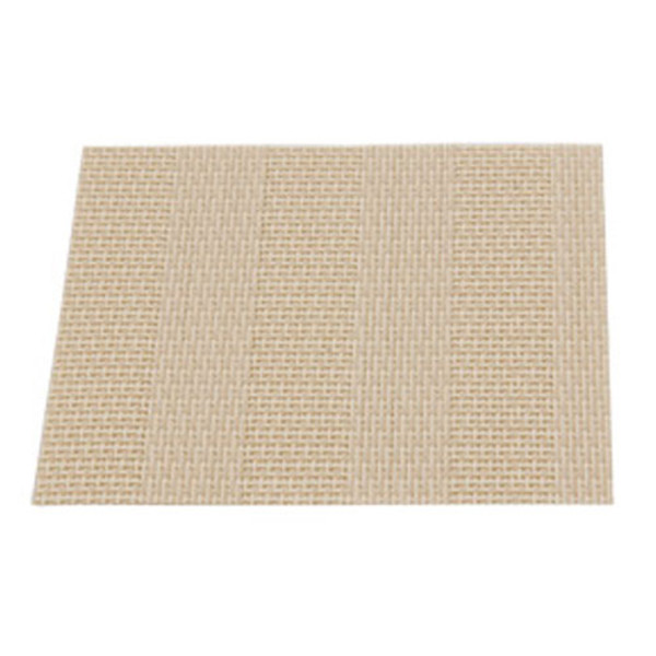 Image of Resin Cream Striped Square Coaster. Set of 5