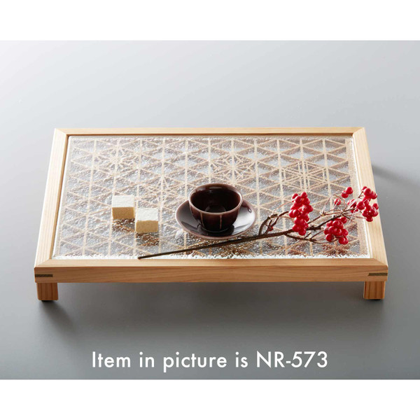 Image of Square Glass and Akita Cedar Kumiko Tray 3