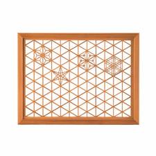 Rectangular Glass and Akita Cedar Kumiko Tray