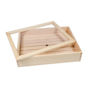 Wooden Sushi Neta Case with Acrylic Cover