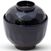 Kikko Black Lidded Soup Bowl