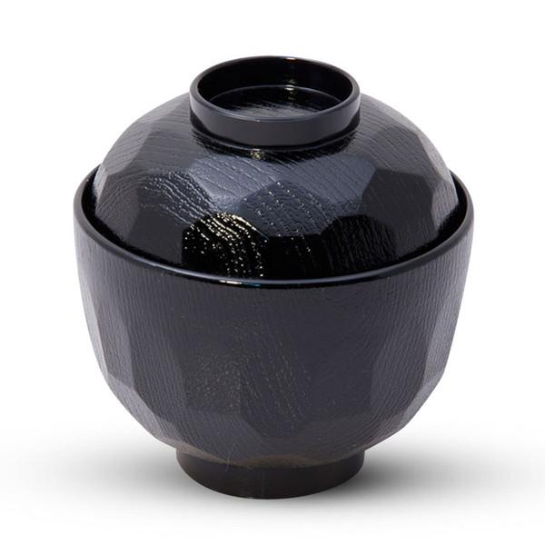 Image of Kikko Black Lidded Soup Bowl