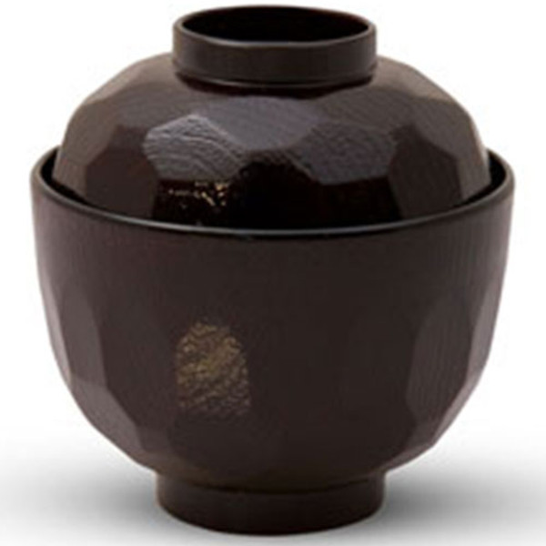 Image of Kikko Tame Brown Lidded Soup Bowl