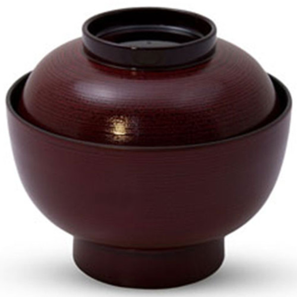 Image of Tamehake Brown Resin Lidded Soup Bowl