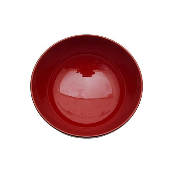 Image of Black Plastic Soup Bowl 2