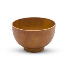 Light Wood Grain Plastic Soup Bowl