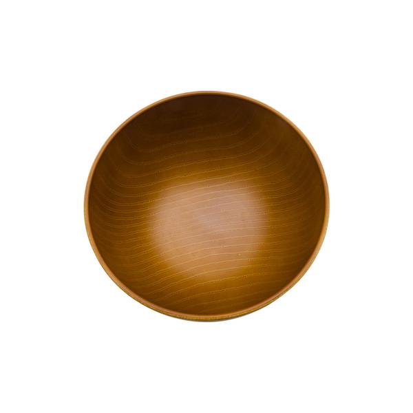 Image of Light Wood Grain Plastic Soup Bowl 2