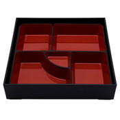 Black and Red Square Bento Box