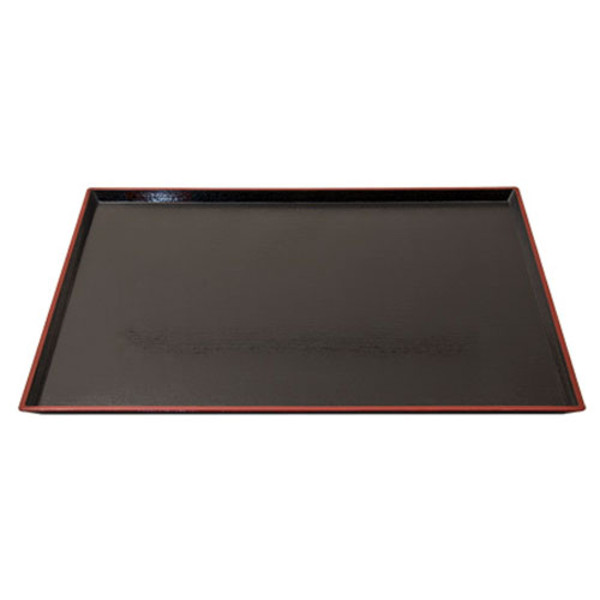 Image of Red Border Black Tray