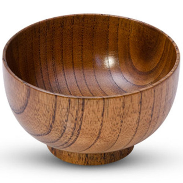 Image of Wooden Soup Bowl