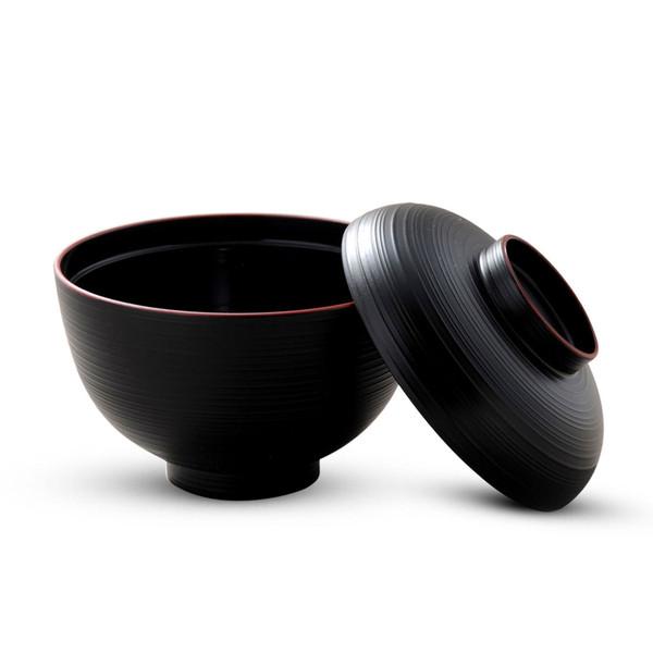 Image of Sensuji Black Lidded Soup Bowl