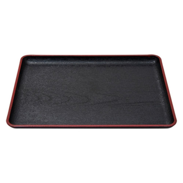 Image of Rectangular Black Tray