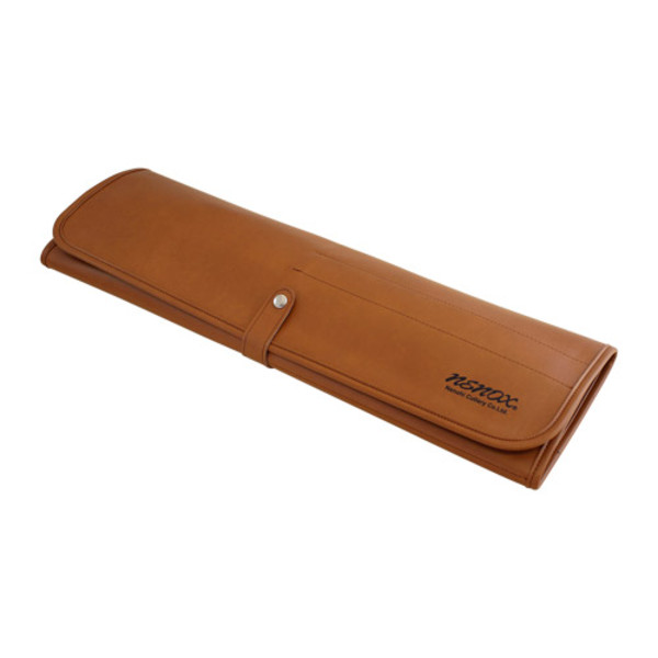 Image of Nenohi Brown Synthetic Knife Roll Bag 1