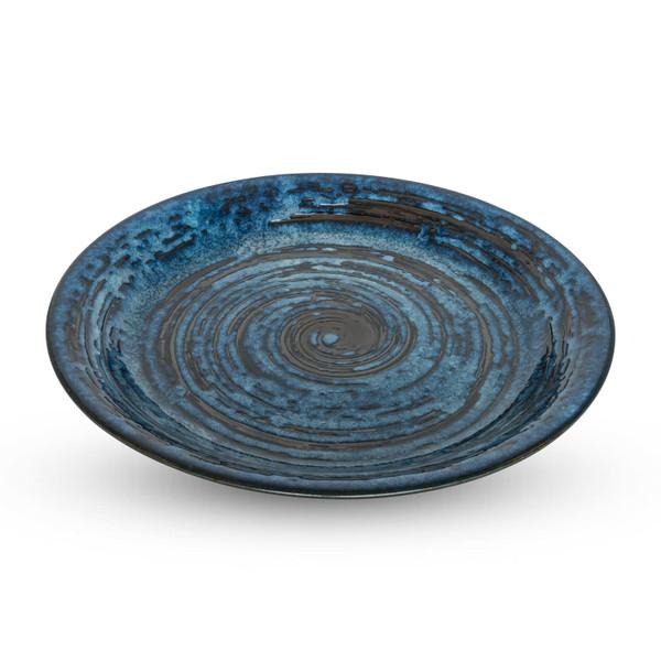 Image of Konyu Uzu Blue Round Plate 1