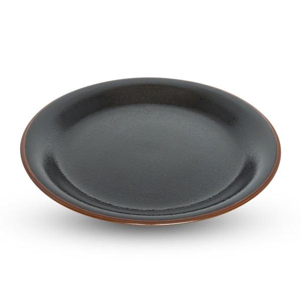Image of Yuzu Tenmoku Black Round Plate