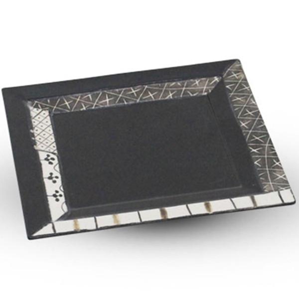 Image of Black Oribe Square Flat Plate