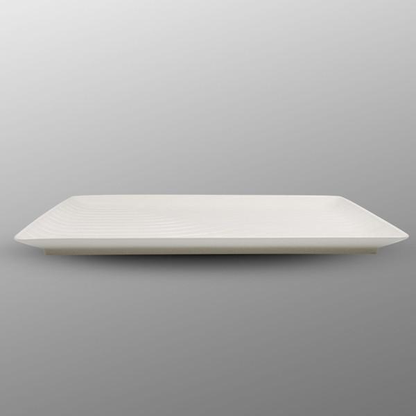 Image of Namihori White Wave Rectangular Plate 2
