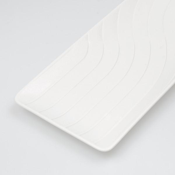 Image of Namihori White Wave Rectangular Plate 3