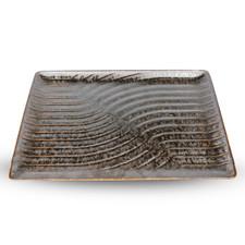 Namihori Iris Bronze Wave Rectangular Plate