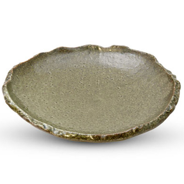 Image of Oribe Green Round Plate 1
