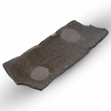 Ash Gray Layered Oblong Plate