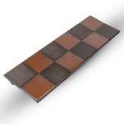 Black Checkerboard Pedestal Plate