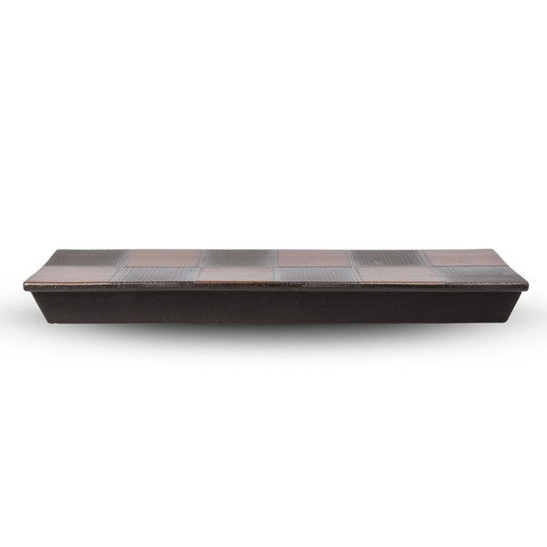 Image of Black Checkerboard Pedestal Plate 3