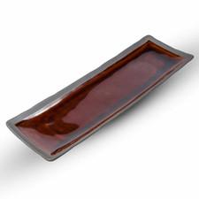 Amber Oblong Plate