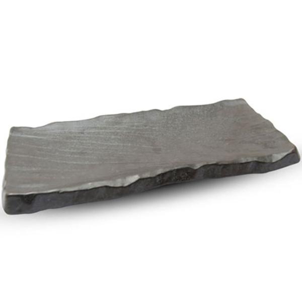 Image of Black Bizen Rectangle Plate