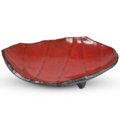 Red Abstract Plate