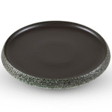 Black Round Plate