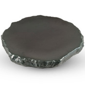 Black Abstract Plate