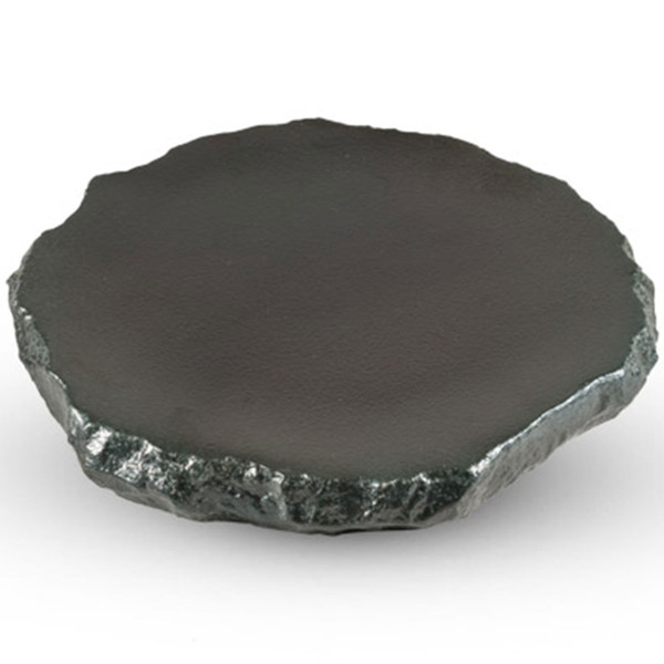Image of Black Abstract Plate