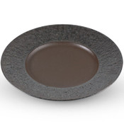 Charcoal Gray Round Plate