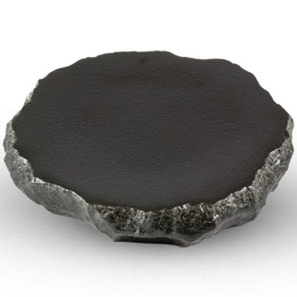 Image of Black Abstract Slate Plate 1