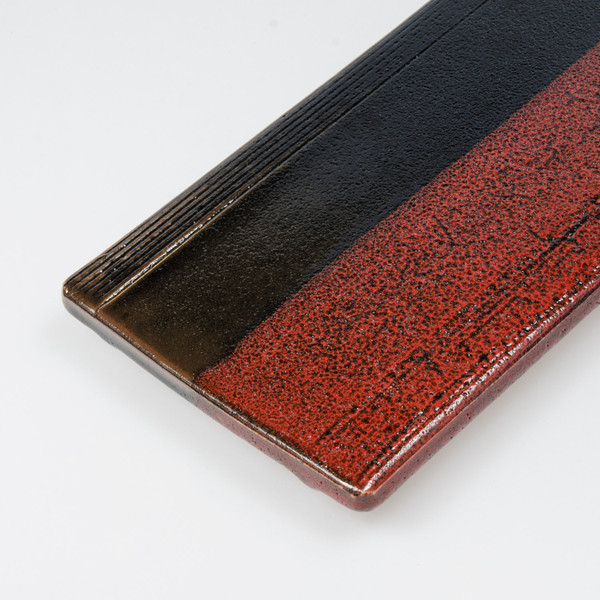 Image of Ashura Black and Red Rectangular Plate 3