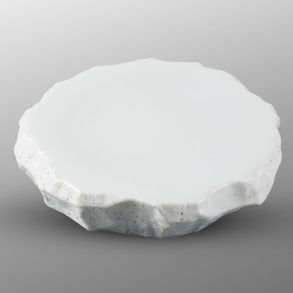 Image of Snow White Granite Abstract Plate