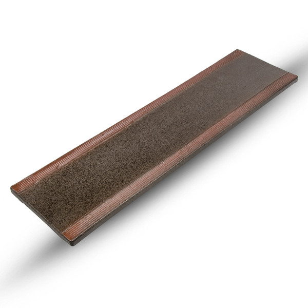 Image of Brown Oblong Plate 1