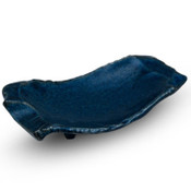 Navy Blue Abstract Plate