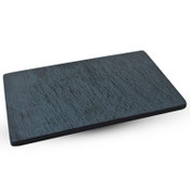 Slate Design Black Rectangular Plate