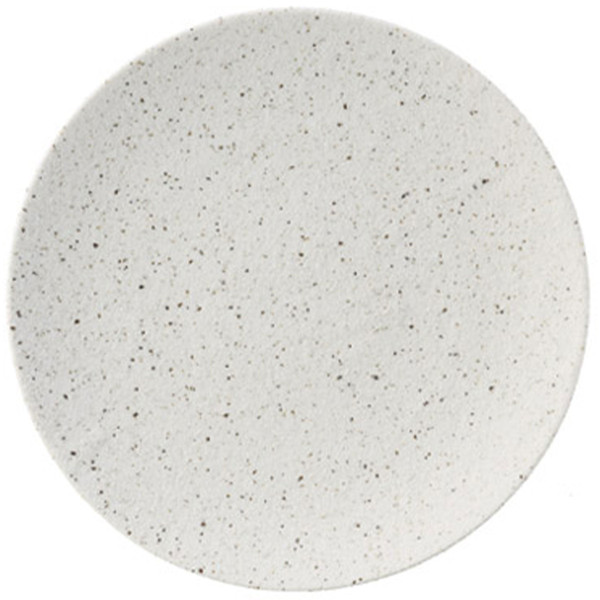 Image of Cambria White Speckled Round Plate 1
