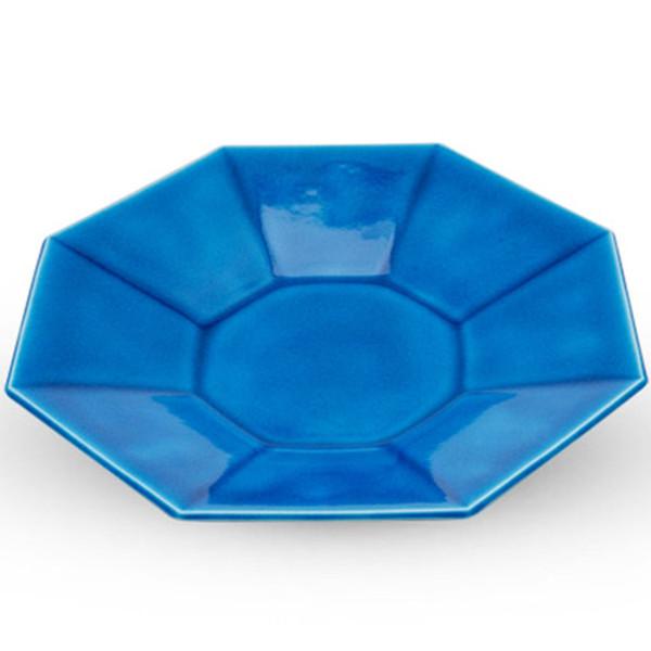 Image of Indigo Octagon Plate 1