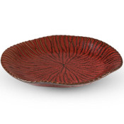 Shuin Red Abstract Plate